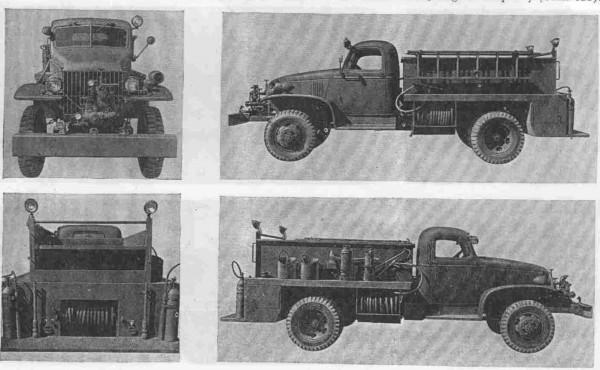 სახანძრო-საბრძოლო ავტომობილების კლასიფიკაცია აშშ-ში მეორე მსოფლიო ომის დროს